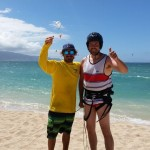 maui kiteboarding lessons instructor and student