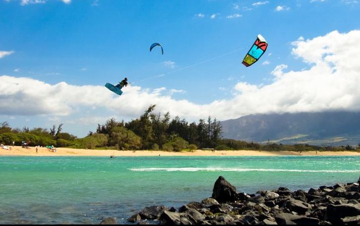 Kiteboarding at Aqua Sports Maui Kiteboarding Lessons Kite Beach Maui