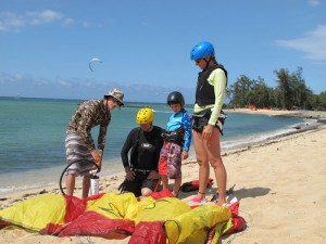 Aqua Sports Maui Kiteboarding Family Lesson