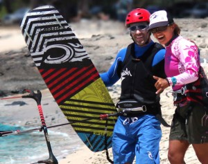 Maui Kiteboarding Lesson from Aqua Sports Maui at Kite Beach Maui