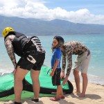 Aqua Sports Maui Kitedboarding Lessons Shared FamilyFamily Kiteboarding Lessons for beginners