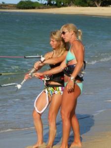 Aqua Sports Maui Kiteboarding Instructor Diana