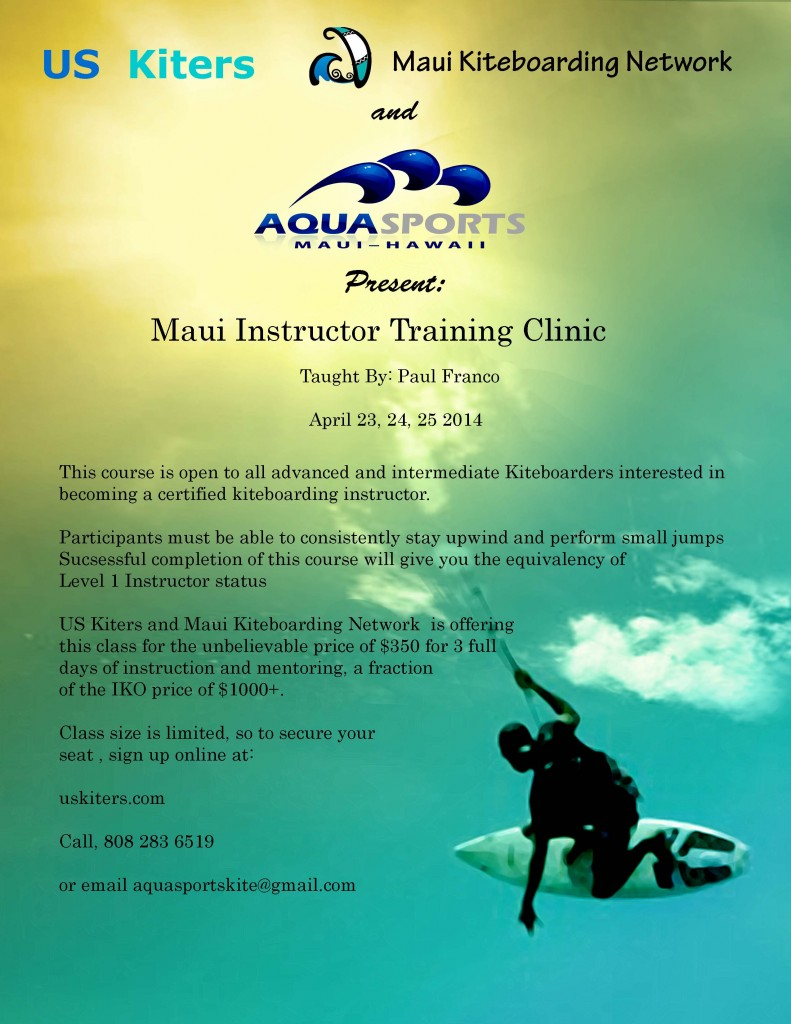 US Kiters Kiteboarding Instructor Certification ClinicMaui