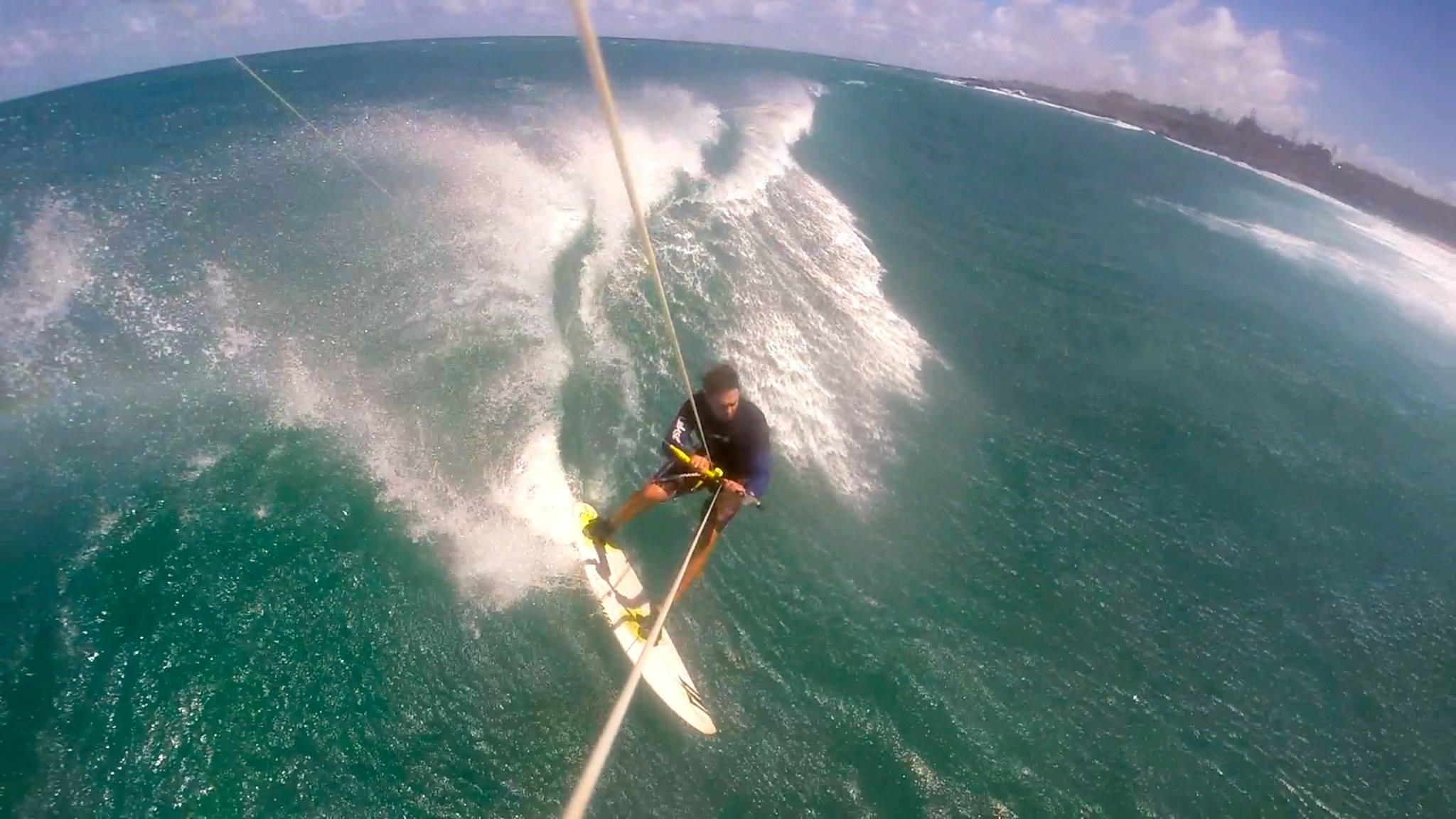 Paul Franco kitesurfing Lanes