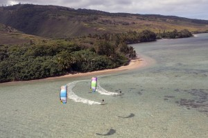 Kiteboarding on North Gear