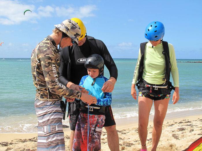 Group Maui Kiteboarding Lessons