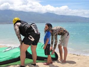 Aqua Sports Maui Kitedboarding Lessons Shared FamilyFamily Kiteboarding Lessons for beginners