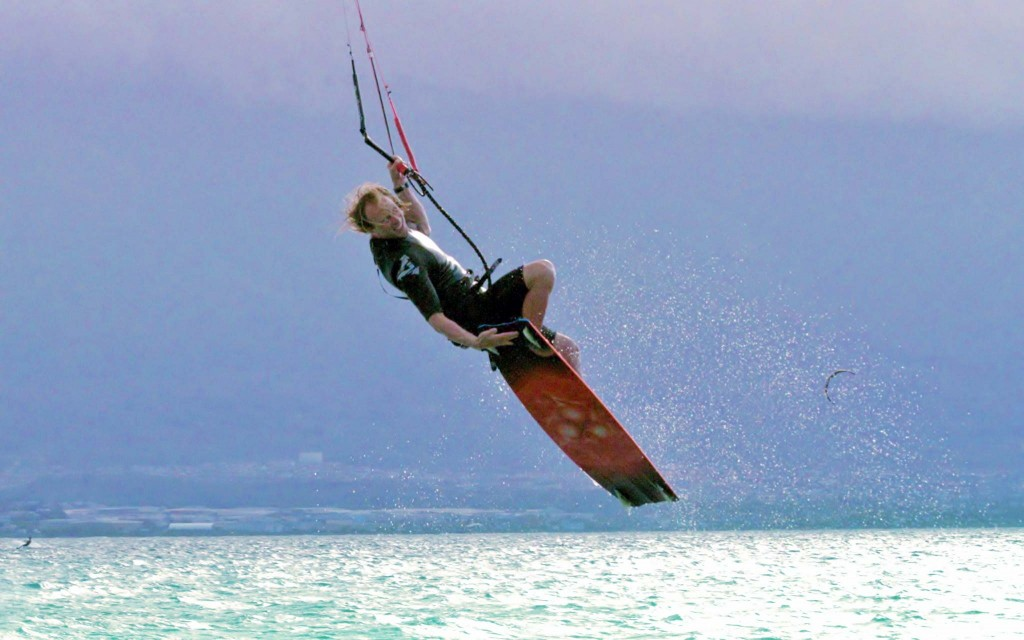 Maui Kiteboarding Instructor Troy Schafer Unhooked Tricks