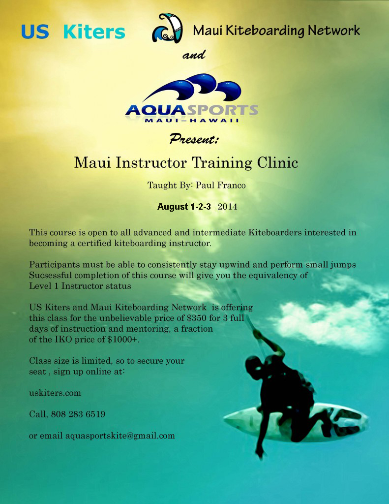 Maui Kiteboarding Instructor Clinic