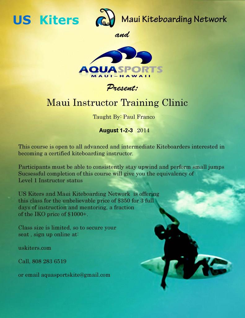 Maui Kiteboarding Instructor Clinic
