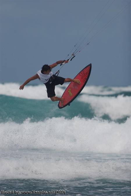 Lou Wainman Kiteboarding Waves