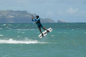 Aqua Sports Maui Student Enrico Jumping