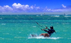 Aqua Sports Maui Kiteboarding Lessons Student Natalie