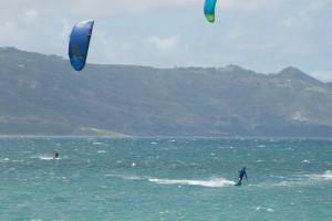 Aqua Sports Maui Kiteboarding Lesson Enrico Learning Toeside