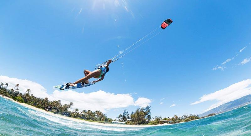 Karlie-Thoma kite boarding Maui