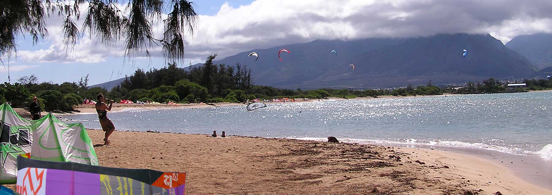 Kiteboarding on Kite Beach Maui, Hawaii